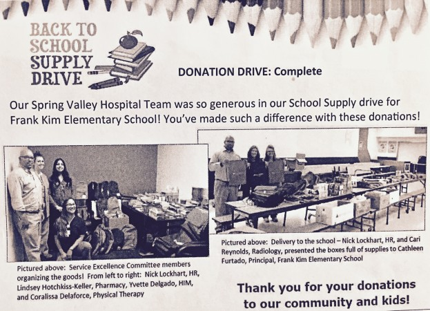 SPRING VALLEY HOSPITAL GIVE